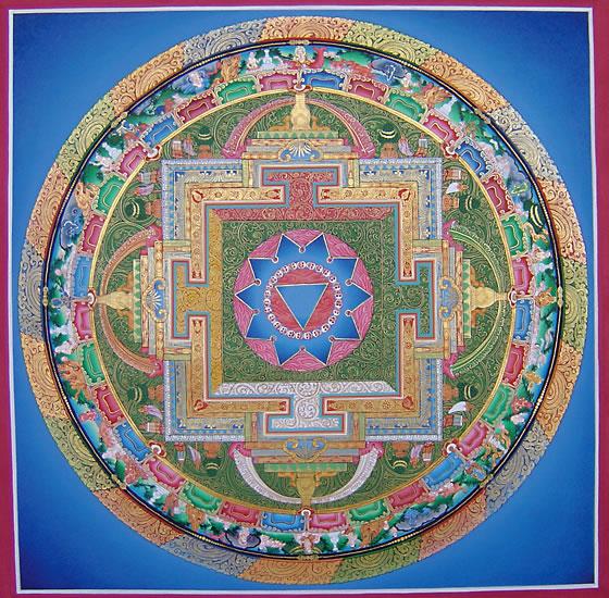 Тибетская мандала на счастье